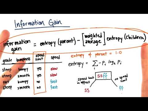 Information Gain Calculation Part 10 - Intro to Machine Learning thumbnail