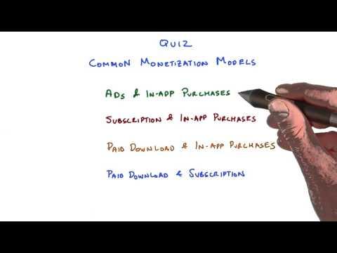Common Monetization Models Quiz thumbnail
