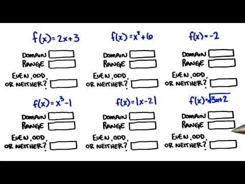 More Domains and Ranges - College Algebra thumbnail