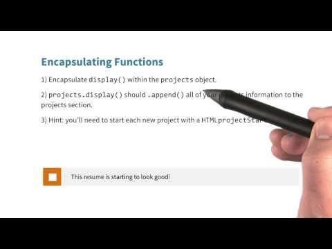 Encapsulating Functions Quiz - JavaScript Basics thumbnail