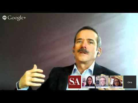 Chat with Space Station Commander Chris Hadfield - SA Hangout #8 thumbnail
