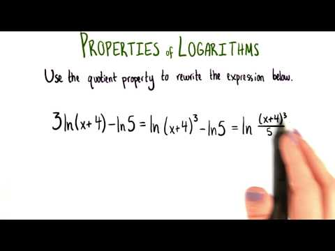 Quotient Property Condensing - College Algebra thumbnail