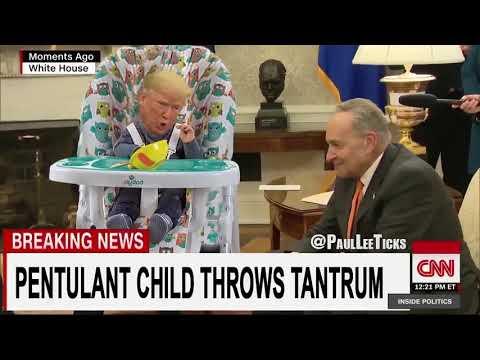 TrumpShutdown Petulant child throws angry tantrum. thumbnail