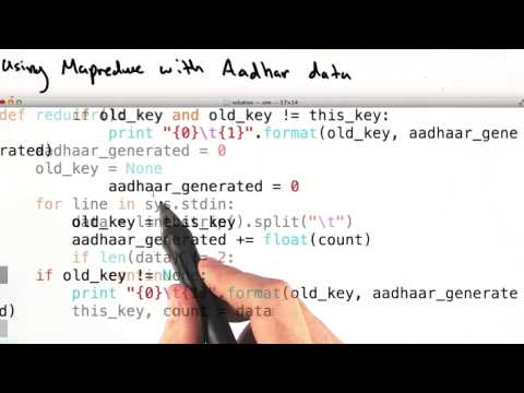 Mapper and Reducer with Aadhaar Data - Intro to Data Science thumbnail