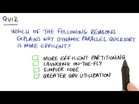 Why is Dynamic Parallel Quicksort is More Efficient - Intro to Parallel Programming thumbnail