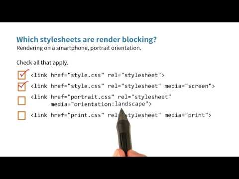 Which stylesheets are render blocking - Website Performance Optimization thumbnail