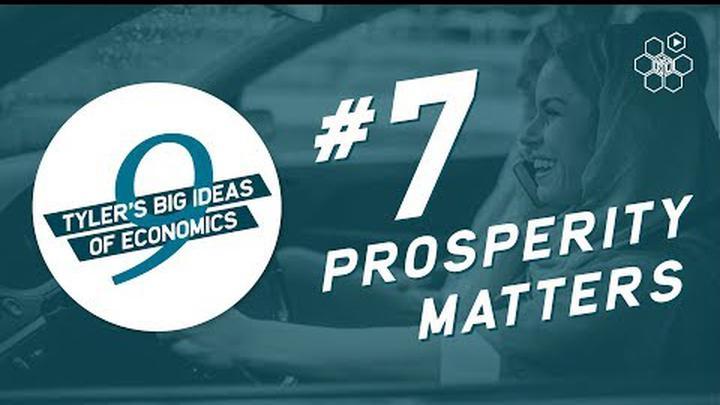 Tyler Cowen's Idea #7: Prosperity Matters