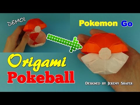 Origami Pokeball That Opens Designed By Jeremy Shafer