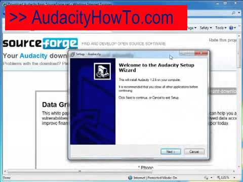 Audacity save as mp3.