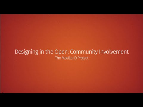 Designing in the Open: Community Involvement thumbnail