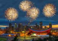 Fireworks Over The Calgary Stampede