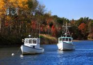 Lobster boats on Kennebunkport harbor