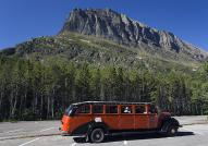 A Jammer bus on the Going-to-the-Sun Road