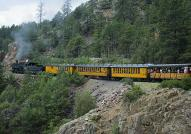 Train through the Rockies