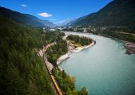 Rocky Mountaineer near Fraser Canyon