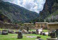 Ancient Inca Ruins at Ollantaytambo