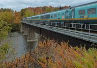 A Via Rail train