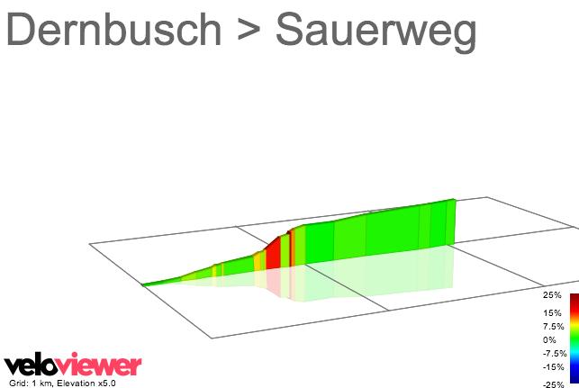 2D Elevation profile image for Dernbusch > Sauerweg