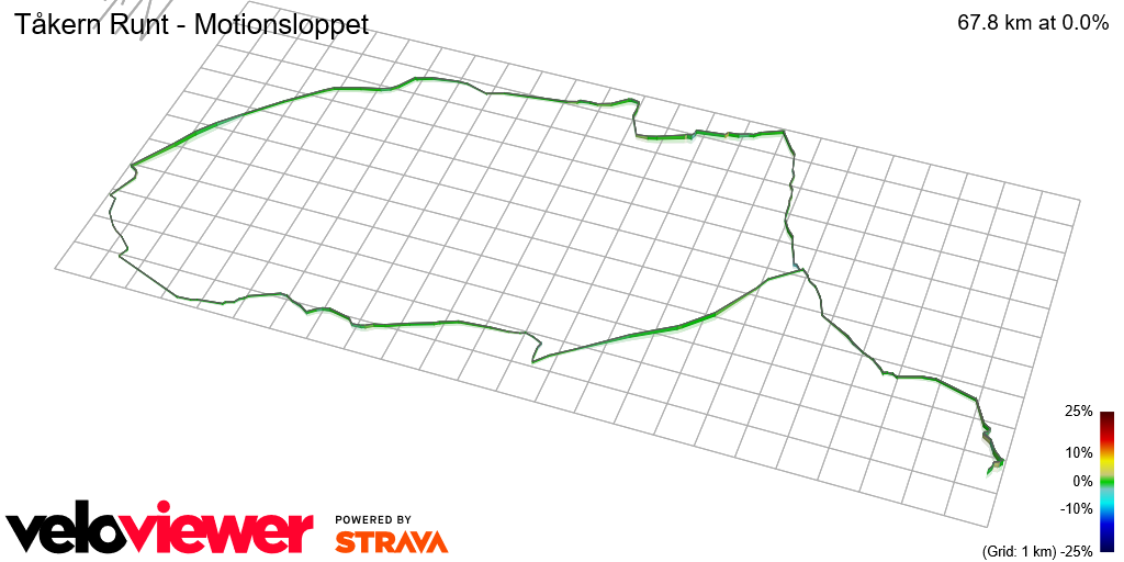 3D Elevation profile image for Tåkern Runt - Motionsloppet