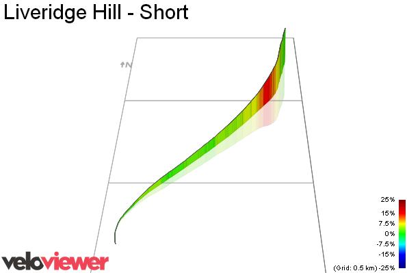 3D Elevation profile image for Liveridge Hill - Short