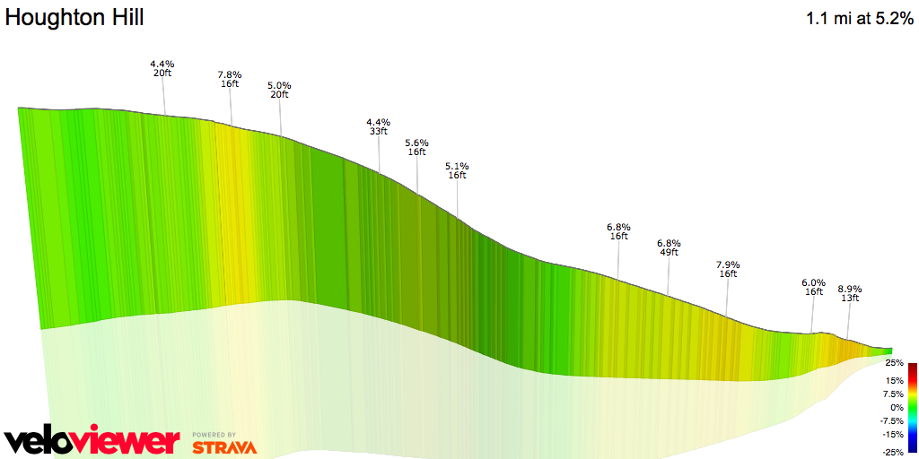 3D Elevation profile image for Houghton Hill