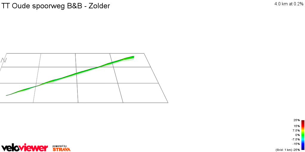 3D Elevation profile image for TT Oude spoorweg B&B - Zolder