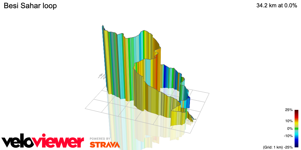 3D Elevation profile image for Besi Sahar loop