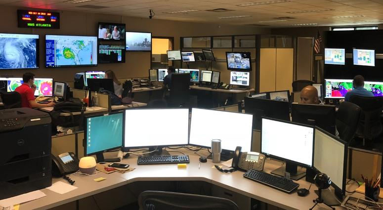 National Weather Service Meteorologists in Peachtree City GA keep an eye on Hurricane Michael