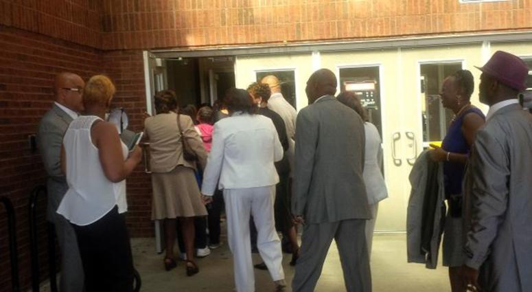 File photo of voters participating in Sunday voting at the Adamsville Recreation Center