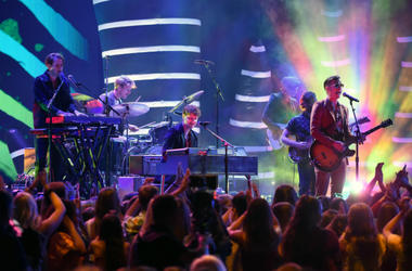 Foster the People onstage at TEEN CHOICE 2018