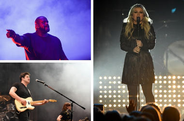 Shaquille O'Neal, Kelly Clarkson, Mumford & Sons