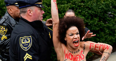 Bill Cosby Topless Protester