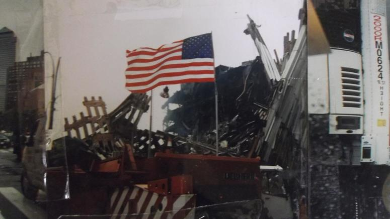 Donato Panico's Flag At Ground Zero