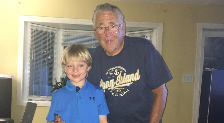 Kevin Beckman with his grandfather