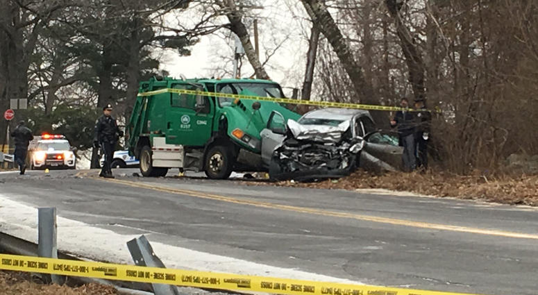 NYPD officer killed in collision with garbage truck