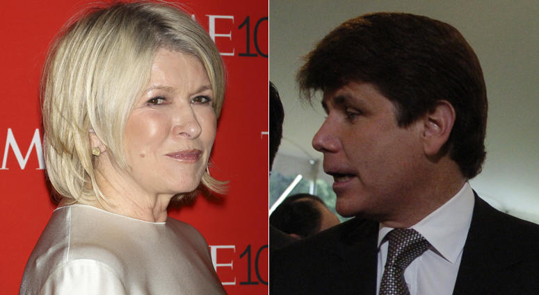 Martha Stewart and Rod Blagojevich