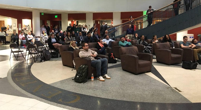 Rutgers Law Students Watch Kavanaugh Hearing