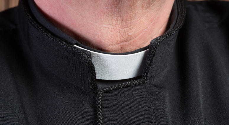 A priest's collar.