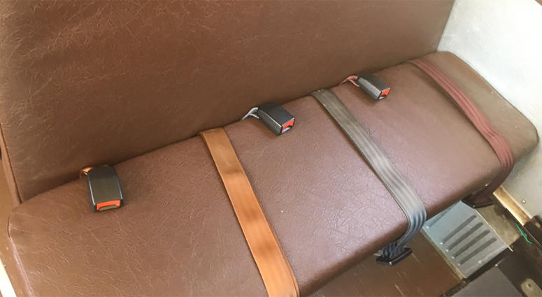 Seat belt in a school bus