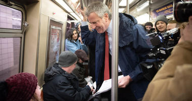 Mayor Rides Subway