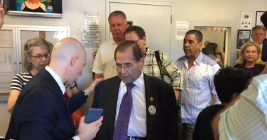 Congress Members At ICE Detention Facility