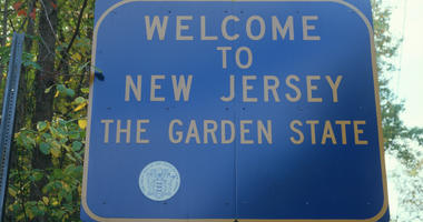 Welcome to New Jersey road sign