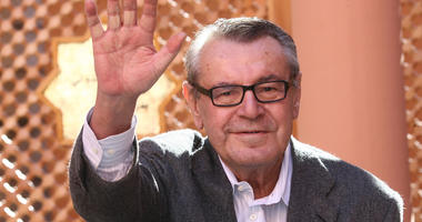 FILE - In this Dec. 8, 2007, file photo, Czech-born filmmaker Milos Forman, Jury President of the seventh Marrakesh Film Festival, poses during a photo call on the second day of the Marrakesh 7th International Film Festival in Marrakesh.