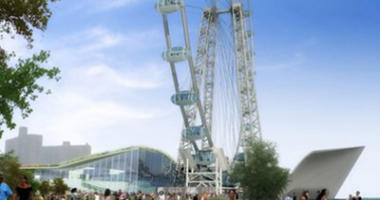 An early rendering of the New York Wheel