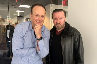 Brad Blanks and Ricky Gervais