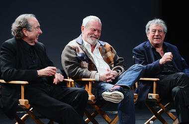Monty Python's Eric Idle, Terry Gilliam, and Terry Jones