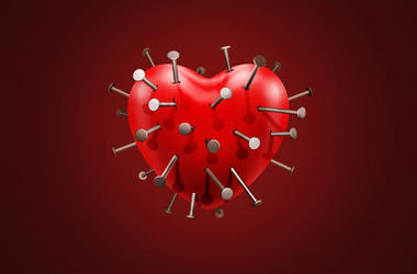 Heart with nails in it
