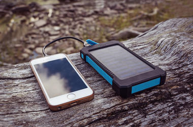 Phone charging on solar power