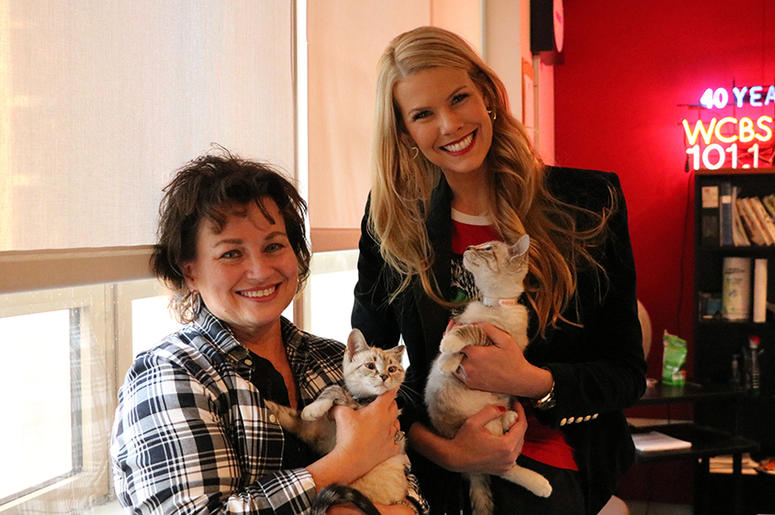 Beth Stern with Kittens