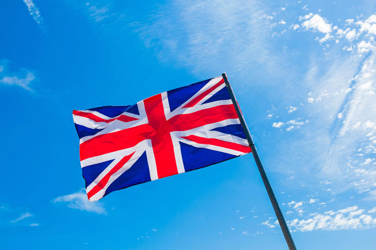 British Flag in the Sky